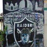 Los Angeles Raiders mural