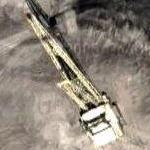 400 foot tall dragline at strip mine (Google Maps)
