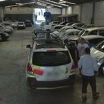 Streetview cars in a parking garage