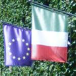 EU & Italian flags