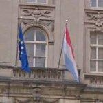 Flags of Luxembourg & European Union