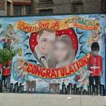 Prince William and Kate Middleton mural