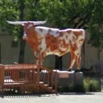 Texas longhorn statue (StreetView)