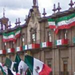Mexican Independence Day decorations (StreetView)