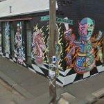 Graffiti wall by 'Deb' (StreetView)