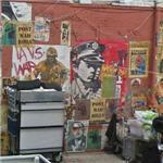 Large varied collection of wheat paste graffiti (StreetView)
