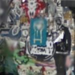 Wheatpaste graffiti