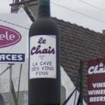 Giant wine bottle