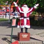 Greeting Santa