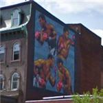 Ali, Frazer, Holmes and Foreman by David McShane (StreetView)
