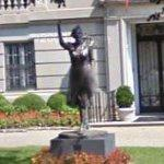 Crown Princess Märtha of Norway statue by Kirsten Kokkin (StreetView)