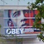 Shepard Fairey Posters show (StreetView)
