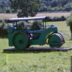 Vintage road roller