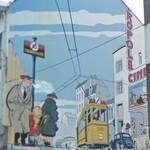 Young Albert mural