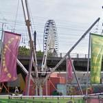 Ferris wheel and kiddy bungee jump