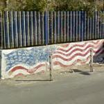 American flag mural in Italy (StreetView)