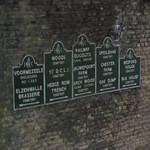Signs to CWGC cemeteries of WW 1