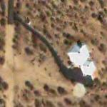Burt Rutan's hexagon shaped home (Google Maps)