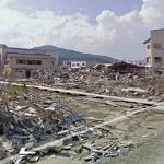 Kesennuma city after the Japan Tsunami in 11 March 2011