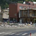Town of Kamaishi after the Japan eartquake and tsunami in 11 March 2011.
