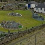3 model villages in a garden