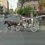 Horse-drawn carriage.