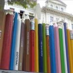 Huge pencils (StreetView)