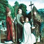 'Canon Bernardijn Salviati and Three Saints' by Gerard David