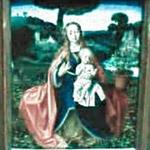 'The Virgin and Child in a Landscape' by Jan Provoost