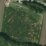 Asterix and Obelix maze (Google Maps)