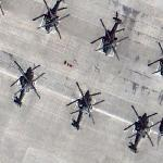 A group of Apaches (AH-64) (Google Maps)