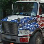 Patriotic cement mixer