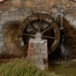 Watermill in roundabout
