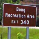 Bong Recreation Area sign