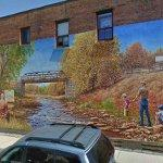 """Mimico Creek, ca 1920"" Mural by John Kuna (StreetView)"
