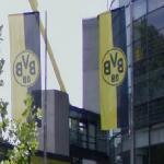 Flags with Borussia Dortmund Logo (StreetView)
