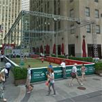 Tennis court at Rockefeller Plaza