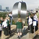 One foot East, one foot West (on the Greenwich meridian) (StreetView)