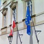 Flags of Poland & European Union