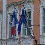 Flags of France & European Union