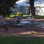 Whale tail fountain