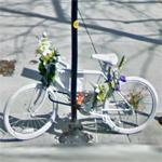Clinton Miceli ghost bike (StreetView)