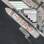 Cruise ship docked in Seattle (Google Maps)