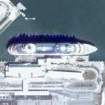 Cruise ship docked in Florida (Google Maps)