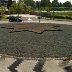 Star art in roundabout