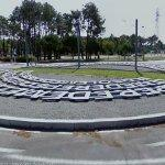 Palindrome art roundabout (StreetView)