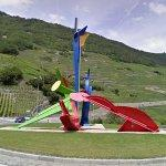 Colorful Abstract Sculpture (StreetView)