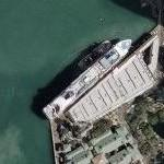 Cruise ship docked in Honolulu (Google Maps)