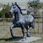 Horse sculpture in roundabout