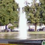 Fountain in roundabout